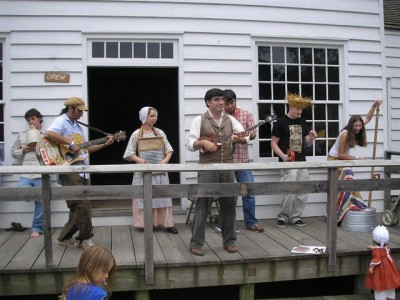 The Wahoo Skiffle Crazies in front of the Guyon Tavern!