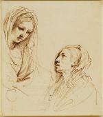 schilderij van Il Guercino (Giovanni Francesco Barbieri): De visitatie