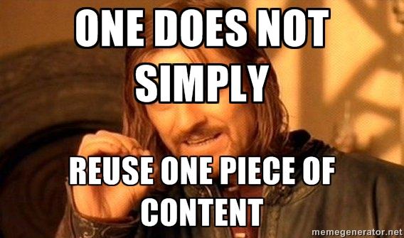 Duplicate Content Meme