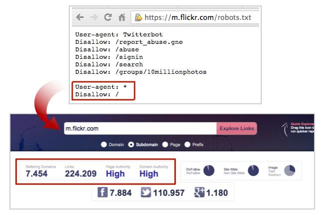 Mobile Subdomain Flickr Blocked
