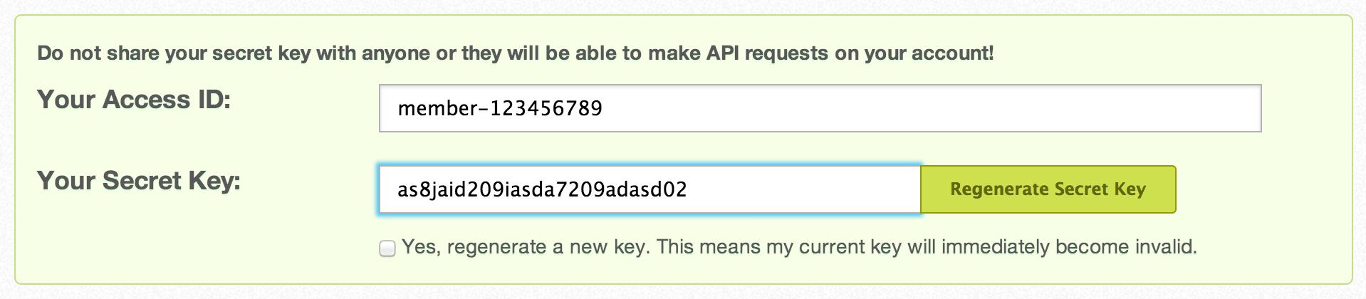 Moz - API Key Generation