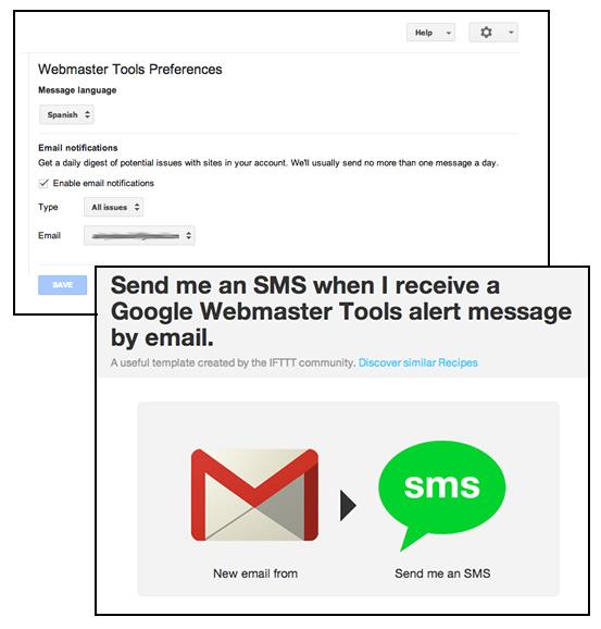 Google Webmaster Tools Alert
