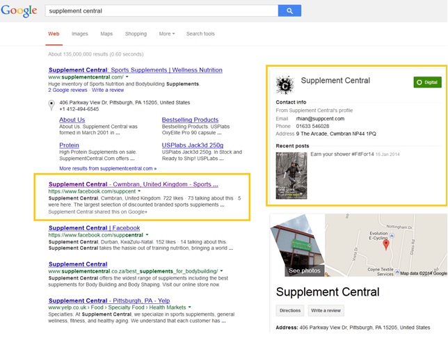 supp cent search results
