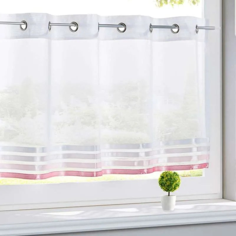 elegant short window curtain for kitchen cafe privacy half window tiers