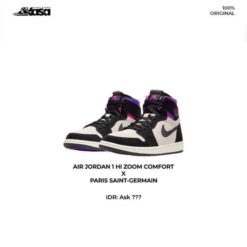 air jordan 1 high zoom comfort x paris saint germain