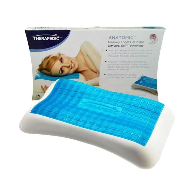 therapedic anatomic memory cooling gel bantal kesehatan