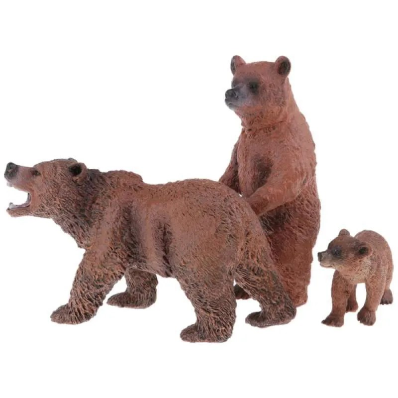 Jual 3pcs Realistic Bear Model Wild Animal Figures Mini Jungle Animals Toy Online Oktober 2020 Blibli Com