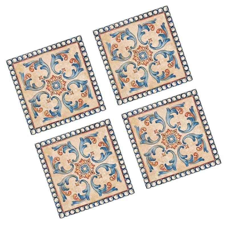 40pcs decorative tile stickers stick vinyl adhesive tiles backsplash 8cm01