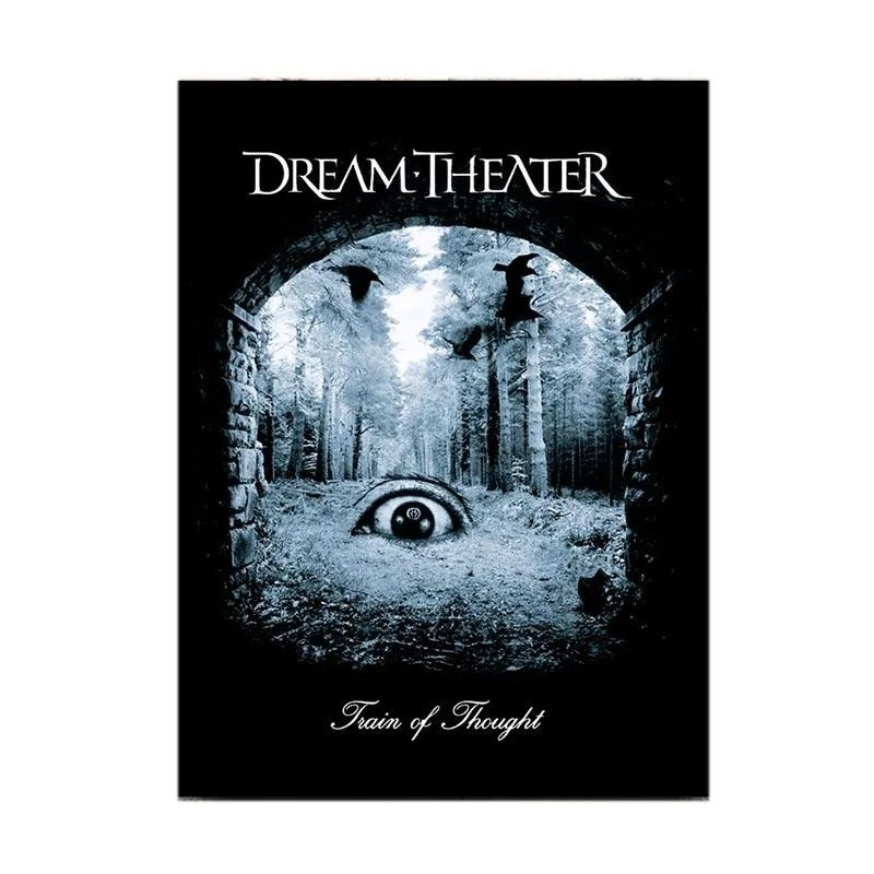 wonderpet dream theater band train of tought poster kayu hiasan dinding