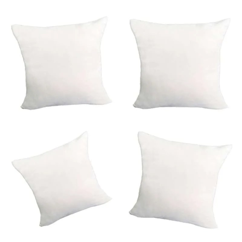 4x decorative pillow case cushion covers soft w hidden zipper white 60x60cm