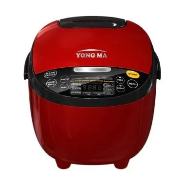 Yong Ma YMC 211 Digital Rice Cooker - Red [2 Liter] Red Black