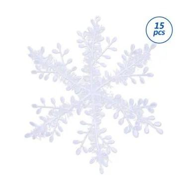 Jual Bluelans Snowflake Charm Christmas Ornament Xmas Tree Party Window Holiday Decor 6 Cm 15 Pcs Online Juni 2020 Blibli Com