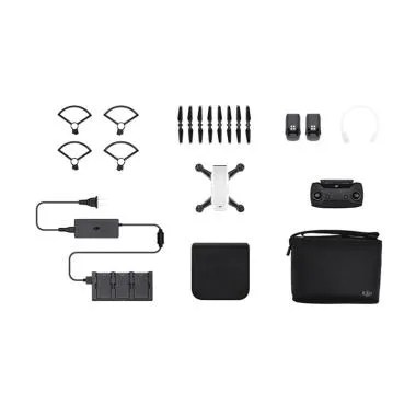 DJI Spark Fly More Combo Drone Camera - Alpine White
