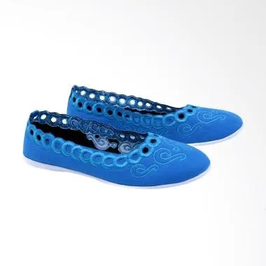 Garsel GIA 6006 Ballerina Shoes Slip On Sepatu Wanita - Biru