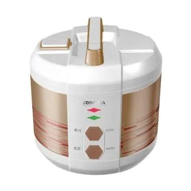 Yong Ma YMC 207 W Teflon Gold Iron Rice Cooker - Gold
