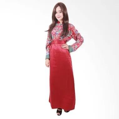 Batik Putri Ayu Solo G2 Gamis Batik - Merah