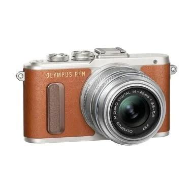 Olympus PEN E-PL 8 KIT 14-42mm EZ Kamera Mirrorless - Coklat