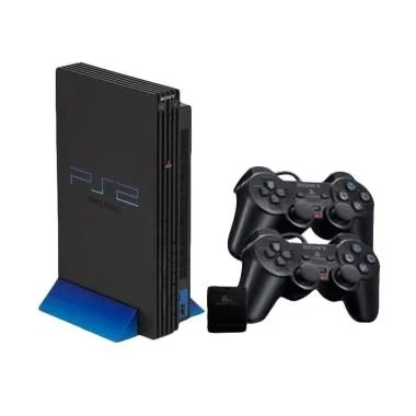SONY PS2 HDD Internal 3/5 with 2 Wi ... e Console - Hitam [80 GB]