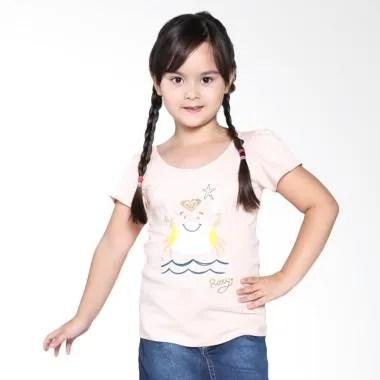 Roxy Kids Basic Crew Ruffle ID K Tees MDC0 Pakaian Anak Perempuan