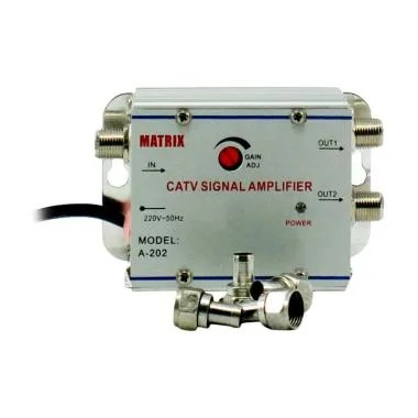 Matrix Amplifier Booster Indoor A-202 CATV 2 Way Splitter