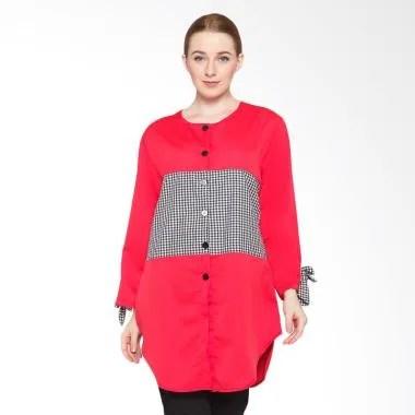 Ayako Fashion Tunik Zoya Atasan Wanita - Red