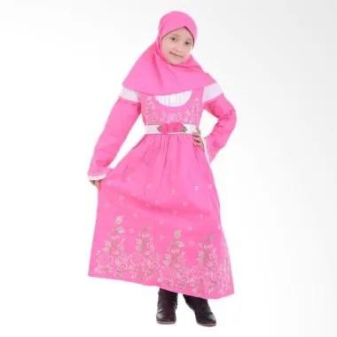 Jesca and Paul Hanna 217 Gamis Baju Muslim Anak - Pink