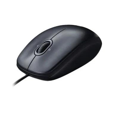 Logitech M100R USB Mouse - Hitam