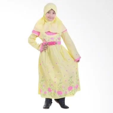 Jesca and Paul Hanna 217 Gamis Baju Muslim Anak - Yellow