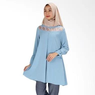 SYAHEERA Tunik Bordir Arsyi Atasan Muslim Wanita - Blue