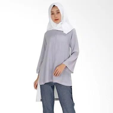 SYAHEERA Reggy Tunik Atasan Muslim Wanita - Grey