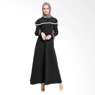 Jfashion Long Dress Maxi Variasi Re ... slim Wanita - Vinka Hitam