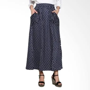 Imani Volka Cotton Skirts IB-SMV-16 Bawahan Muslim - Dark Blue