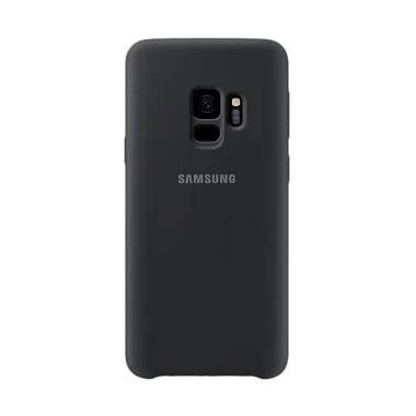 Samsung Silicone Cover Casing for Galaxy S9 - Black [Original]