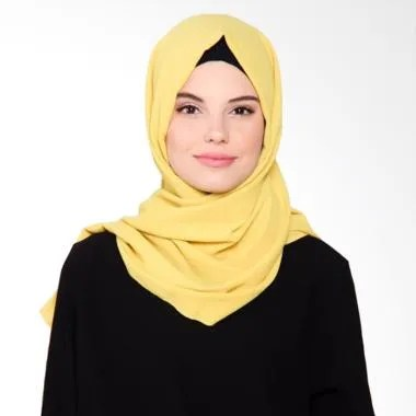 Beyola Bubble Hijab Pashmina - Yellow Mustard