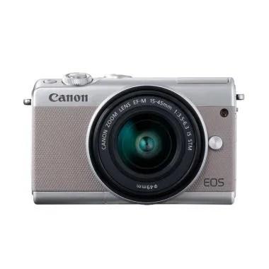 Canon EOS M100 Kit 15-45mm Grey Kam ...  Filter 49mm + Tas Kamera