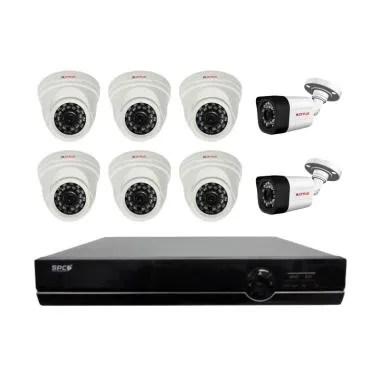 CP Plus Paket Pasang CCTV [8 Channel/ 8 Kamera 2 Mp/ Mix Plus UPS]
