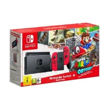 Nintendo Switch Console Super Mario Odyssey Bundle Game