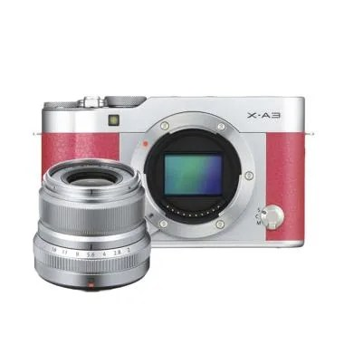 Fujifilm X-A3 Body + XF23mm f/2.0 Kamera Mirrorless - Pink
