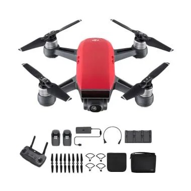 DJI Spark Fly More Combo Drone Camera - Lava Red