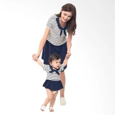 Mooimom Girl Scout Look Dress Set B ... il Menyusui & Anak - Navy