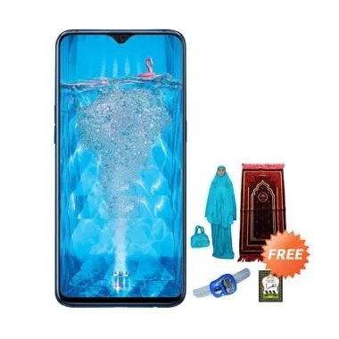 OPPO F9 Smartphone [64 GB/ 4 GB] + Free Paket Sholat Wanita