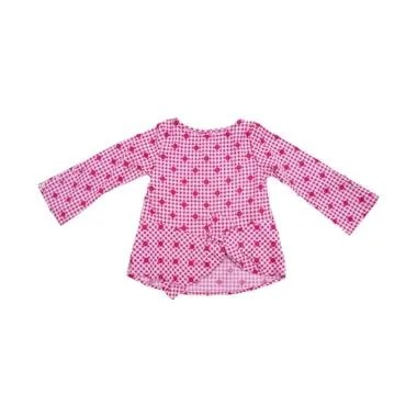 Kids Icon Polka Check Shirt Baju Anak Perempuan