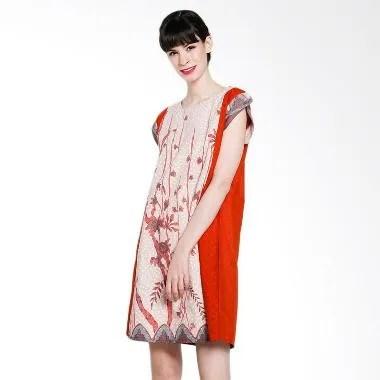 Seruni Batik Alida Dress BTKV 17-11-09 Dress - Teracota