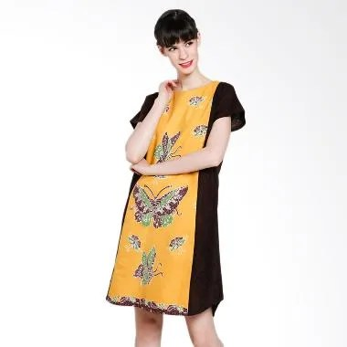 Seruni Batik Alvana Dress BTKV 17-11-10 Dress - Yellow