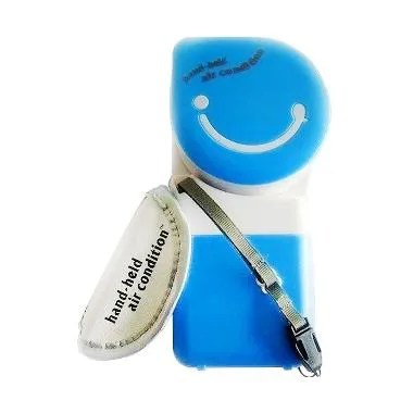 Lullaby AC Mini Fan USB Handheld Bladeless AC Genggam - Blue