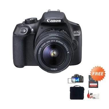 Canon EOS 1300D Kit 18-55mm Kamera  ... - Free Aksessories Kamera