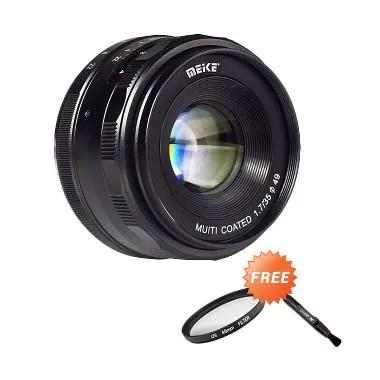 Meike MK-35mm f/1.7 Manual Focus Le ...  + Free Aksessories Lensa