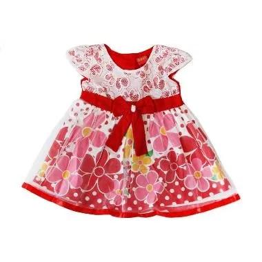 Nathanie Baby Garden Dress Anak - Red
