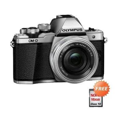 Olympus OM-D E-M10 mark II 14-42 Ka ... - Silver + Free SDHC 16GB