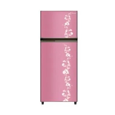 Sharp SJ-196ND-FP Kulkas 2 Pintu New Kirei [172ltr] Pink Motif Bunga